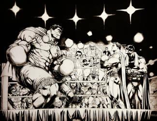 HULK vs SUPERMAN by grandizer05