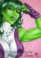 She Hulk Sketch Card '09 by Dangerous-Beauty778
