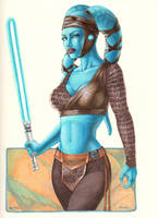 Aayla Secura commission 2012 by Dangerous-Beauty778