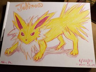 Jolteon Sketch by punx-chan89