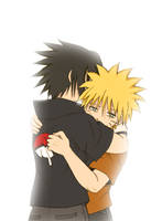 Naruto and Sasuke - Friends by artreart