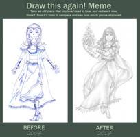 Draw this again! - 2007 vs 2017 by Riemea