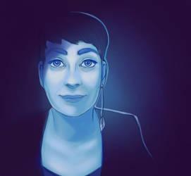 Amelie Self-Portrait by dotLinks