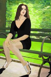 Alina Vacariu - The wait by FabiusWong