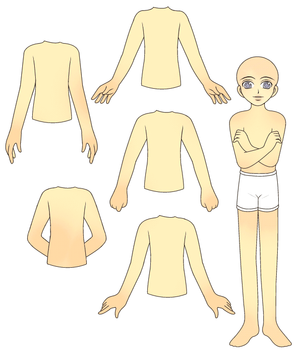 Young Teen Male Paper Doll Base By PockyCrumbs