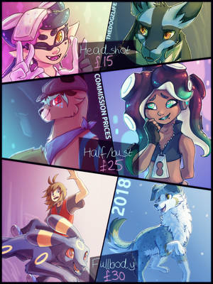 Commission Prices [2018] by TheDogzLife