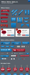 Great Pack of Web Elements by imagearea