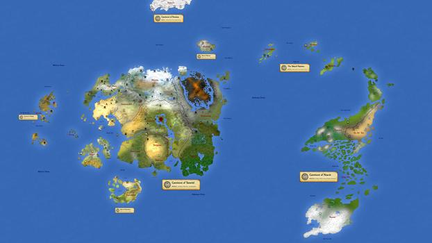 Planet Nirn - Geopolitical by hori873