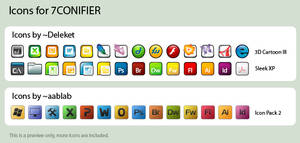 Icons for 7CONIFIER by wronex