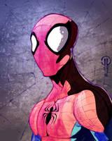 Spidey sketch colors by JoeyVazquez
