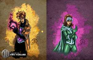 Gambit and Rouge by JoeyVazquez