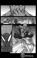 Spiderman page black and whites by JoeyVazquez