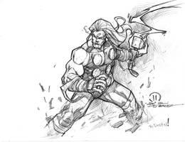 Thor sketch by JoeyVazquez