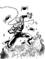 Superior spidey sketch inks by JoeyVazquez