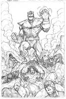 Marvel Avengers page 1 pencils by JoeyVazquez