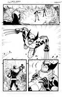 Avengers page 2 inks by JoeyVazquez
