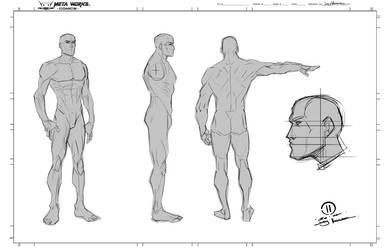 Anatomy digital sketching by JoeyVazquez