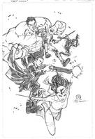 Thunderbolts pencils by JoeyVazquez