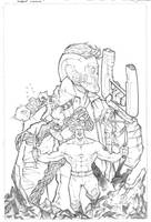 Guardians of the Galaxy pencils by JoeyVazquez