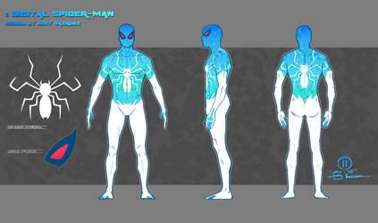 Digital Spider-man Design Turn around by JoeyVazquez