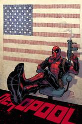 Deadpool president colors by JoeyVazquez