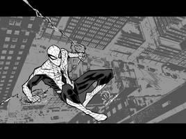 New spider-man costume sketch by JoeyVazquez