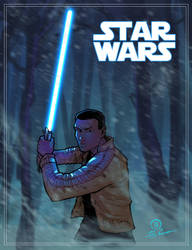 Finn Star wars the force awakens by JoeyVazquez