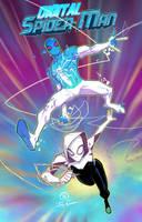 Digital Spider-man and Spider-gwen team up by JoeyVazquez