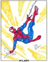 Spider-man swinging markers by JoeyVazquez