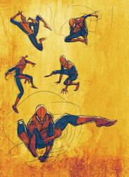 Spidey digital sketches by JoeyVazquez
