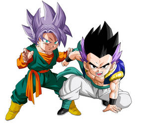 Trunkten and Gotenks by TheRacer122