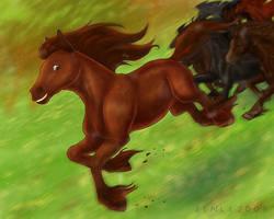 The Fastest Horse by derangedpotato