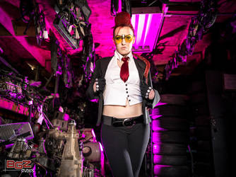 Crimson Viper at the Scrap Yard 1 by bgzstudios