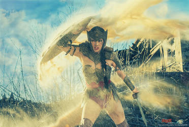 Wonder Woman in Battle - In The Warzone by bgzstudios