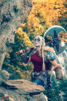 Astrid on a Mountain by bgzstudios
