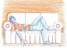 Nap Time by objoyful
