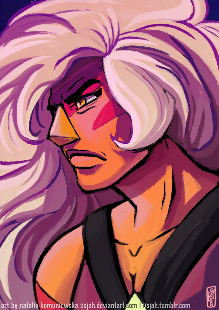 I didn't draw this precious rock in ages! So have some determined Jasper <3 Reblog on Tumblr MY TUMBLR art © Natalia Komuniewska Steven Universe, Jasper  © Rebecca...