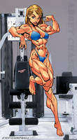 Abbey Chase in the Gym by hardbodies