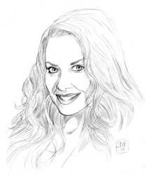 Paige McFarland aka Janet Mason portrait by hardbodies