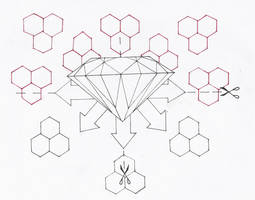 Diamond Graphic Tattoo Sketch by 3FF3CT