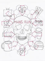 Man's Ruin Tat sketch by 3FF3CT