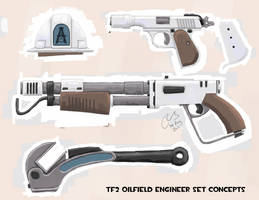 TF2 Oilfield Engineer Concepts by Elbagast