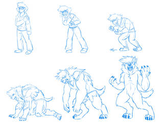 Peridot werewolf transformation by MakTheHedge01
