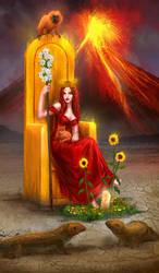 Queen Of Wands by elsbro