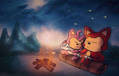 Campfire by SomeGuyWhoDrawsArt