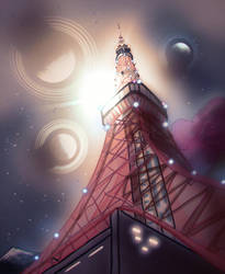 Tower to Space by SomeGuyWhoDrawsArt