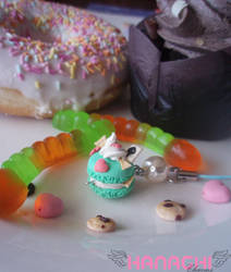 green macaron delight strap by Hanachi-bj