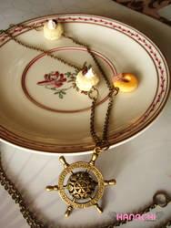 yellow themed stirrwheel long necklace by Hanachi-bj