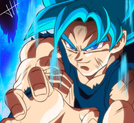 Goku SS Blue - Broly Movie by DarkHans0