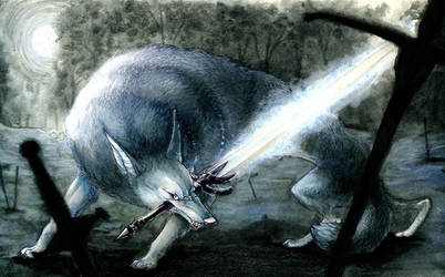 Great Grey Wolf Sif by Prayke